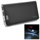 "DS-13800 ""13800nAh"" Dual USB Mobile Power Bank for Iphone / Ipad / Ipod - Black + Silver"