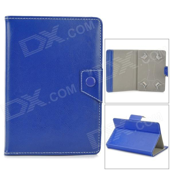 "Stylish PU Leather Case w/ Stand for 7"" Tablet PC - Dark Blue"