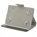 "Protective PU Leather Case w/ Stand for 7"" Tablet PC - Black"