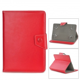 """TY-7 Universal Protective PU Leather Case w/ Stand for 7"""" Tablets - Red"""