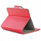 "TY-7 Universal Protective PU Leather Case w/ Stand for 7"" Tablets - Red"