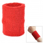 Outdoor Sports Cotton Wrist Band for Badminton / Football / Basketball - Red