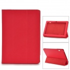 "Protective PU Case w/ Stand for 10.1"" Lenovo S6000 - Red"
