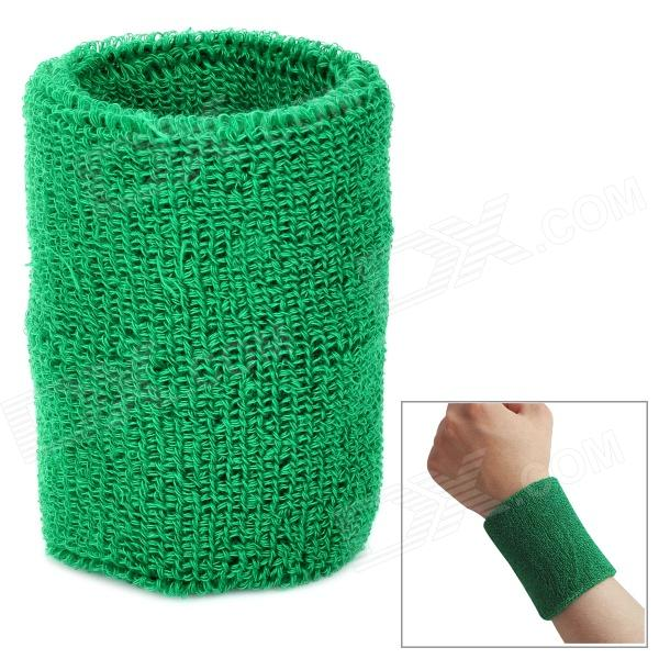 Outdoor Sports Cotton Wrist Band for Badminton / Football / Basketball - Green