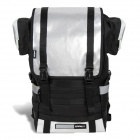 Spakct S13A18 Convenient 600D Nylon + PVC Backpack - Black + Silver (24L)