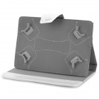 "Universal Protective PU Leather Case w/ Stand for 7"" Tablets - White"