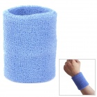 Outdoor Sports Cotton Wrist Band for Badminton / Football / Basketball - Blue