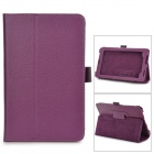 "Lychee Pattern Protective PU Flip-Open Case w/ Stand for 7"" ASUS 372 - Purple"