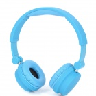 YH-228 Stylish Stereo Headset Headphones with Microphone for PC / Cell Phone - Blue