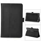 "Lychee Pattern Protective PU Flip-Open Case w/ Stand for 7"" ASUS 372 - Black"