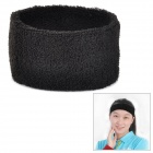 Sports Cotton Sweat Headband - Black
