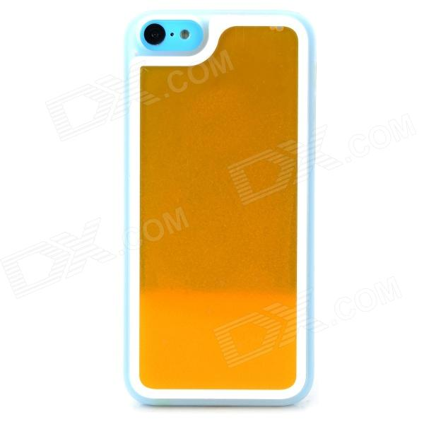 Creative Glow-in-the-Dark Quicksand PC Back Case for Iphone 5C - Orange + Translucent White
