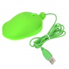 VMM-59 Tortue Cartoon Style USB Wired 800/1200/1600/2400 dpi Optical Mouse - vert