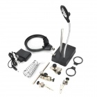 2-in-1 Soldering Adjustable Auxiliary Clip Magnifier w/ 4-LED Light - White + Black