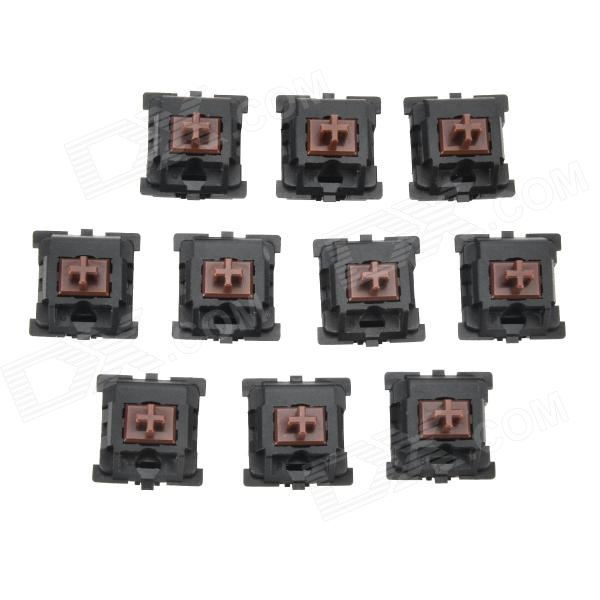 Mechanical Keyboard Switches Buttons - Black + Coffee (10 PCS)