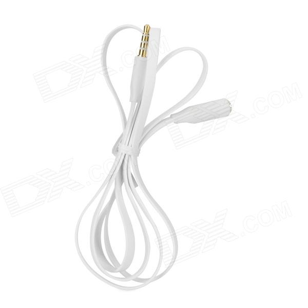 3.5mm Male to Female Audio Extender Cable - White (1m) 3 5mm male to male audio connection nylon cable white red black 1m