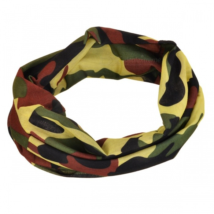 LL-1215 Multifunction Outdoor Sports Seamless Head Scarf - Black+Green