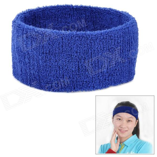 Outdoor Sports Cotton Sweat Headband - Sapphire Blue