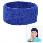 Outdoor Sports Cotton Sweat Stirnband - Sapphire Blue