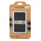 "S-What Portable Solar USB ""4000mAh"" Power Bank for Iphone / Samsung / HTC - Black + Silver"