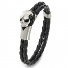 SHIYING ZC005 Skull Style 316L Stainless Steel Bracelet for Men - Black + Silver