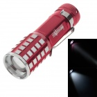 SKYWOLFEYE 723 80lm 6000K White Light Telescopic Zoom Flashlight - Red (3 x AAA)