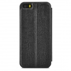 HELLO DEERE Magic Sound Series Protective Flip Open PU Case for Iphone 5G 5S - Black