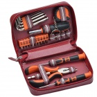 Xuefeng Mountain PC-1002 26-in-1 Outdoor Car Emergency Tools Kit - Orange + Silver + Black