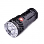 UltraFire 7-LED 3-Mode 4200LM White Flashlight w/ Strap - Black (4 x 18650)