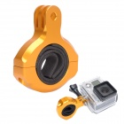 High Precision CNC Aluminum Alloy Bike Handlebar Mount for Gopro Hero 4/3+ / 3 / 2 / HD - Golden +Black