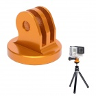 "High Precision CNC Aluminum Alloy 1/4"" Tripod Adapter Mount for GoPro Hero3+ / Hero3 / Hero2 -Golden"