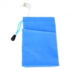 USB Mobile Power Bank Powered Flannel Hands Warmer Bag - Blue