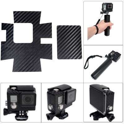Fat Cat A-CS3+ Carbon Fiber Style Protective Sticker for Gopro Hero3+ Waterproof Case - Black