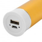 "Cilindro en forma de banco móvil ""5000mAh"" para Iphone Ipad IPod - Golden + Blanco"