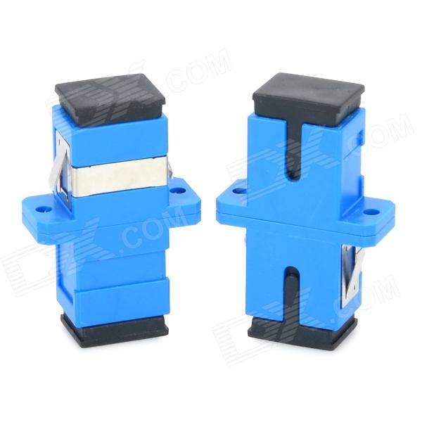 JiaHui SC Flange Connector Optical Adapter Couplers - Blue + Black (2 PCS)