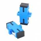 SC Flange Connector Optical Adapter Couplers - Blue + Black (2 PCS)