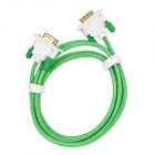 C.Y.K 1080P VGA Male to Male Connection Cable for Monitor / Projector - Green + White