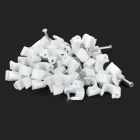 6mm Coax Satellite TV Cable Electric Power Network Wire Nail-in Clips - Silver + White (50 PCS)