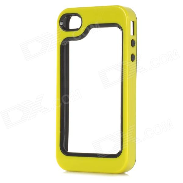 S-What Detachable Protective Silicone + PC Bumper Case for Iphone 4 / 4s - Yellow + Black