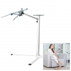 UP-7 Aluminum Alloy + ABS Floor Holder Stand Bracket for Laptop - Silver White