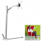 UP-8 Aluminum Alloy + ABS Floor Holder Stand Bracket for Laptop / Tablet PC / Cellphone - Silver