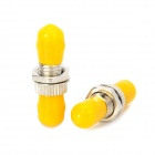 JiaHui Optical Adapter ST Flanges / Couplers - Silver + Yellow (2 PCS)