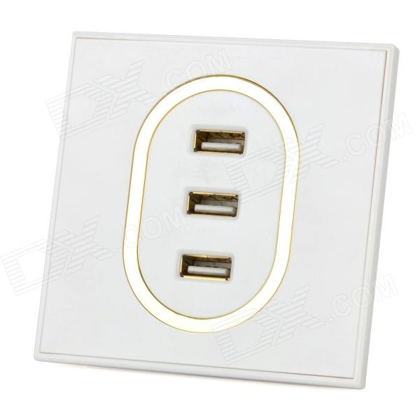 3-Port USB Wall Charger Board - White