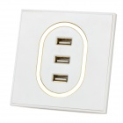 XL-U0102 3 Port USB Wall Charger Board - White