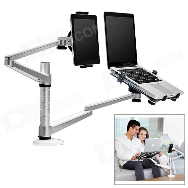 все цены на  UP-10 Aluminum Alloy + ABS Holder Stand Bracket for Laptop / Tablet PC - Black + Silver  онлайн