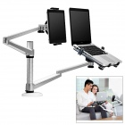 UP-10 Aluminum Alloy + ABS Holder Stand Bracket for Laptop / Tablet PC - Black + Silver