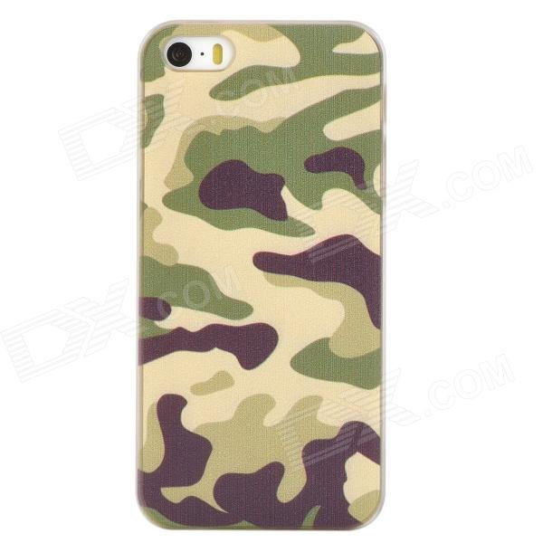 Protective PC Back Case for Iphone 5 / 5s - Camouflage + White camouflage 3 piece pc