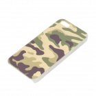 Protective PC Case Voltar para o iPhone 5 / 5s - Camouflage + Branco