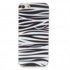 Zebra Skin Pattern PC Back Case for Iphone 5 / 5s - White + Black