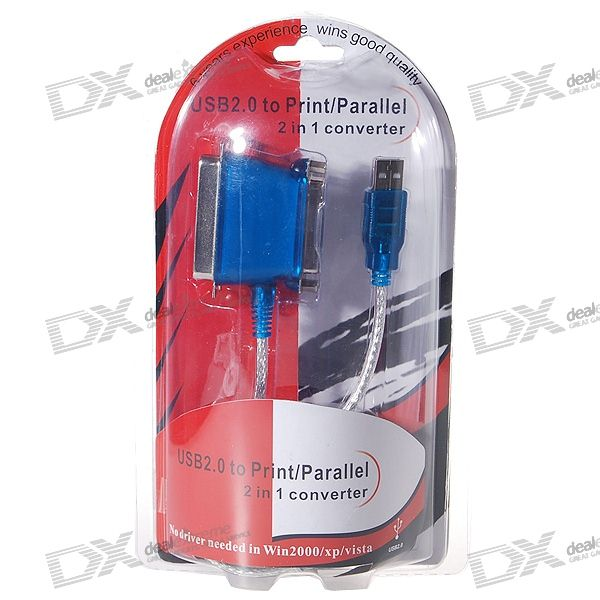 USB 2.0 to Parallel/Printer Cable Adapter